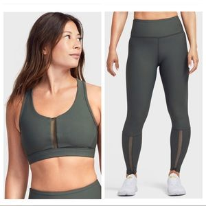 SOUL BY SOULCYCLE Mesh Insert Legging and Bra Set